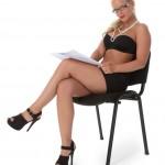 Hot blonde striptease. Coxy model - Blonde iStripper Coxy nude