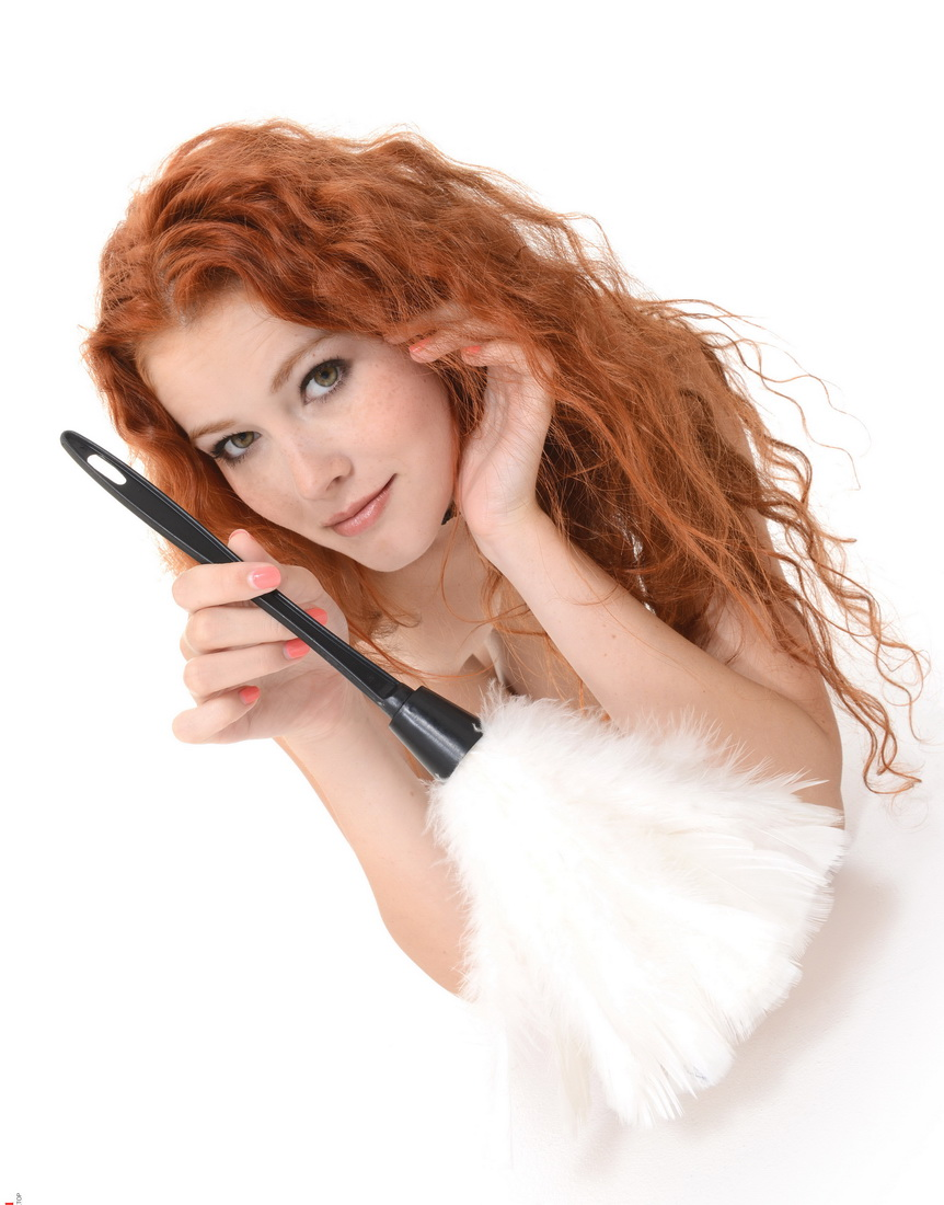 Sexy Redhead Maid