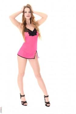 Pink Lingerie - Blonde iStripper Vanessa Mio
