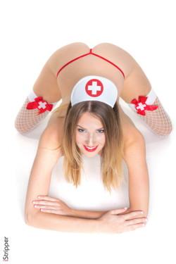 Nurse for you! - Ashley Lane Blonde iStripper